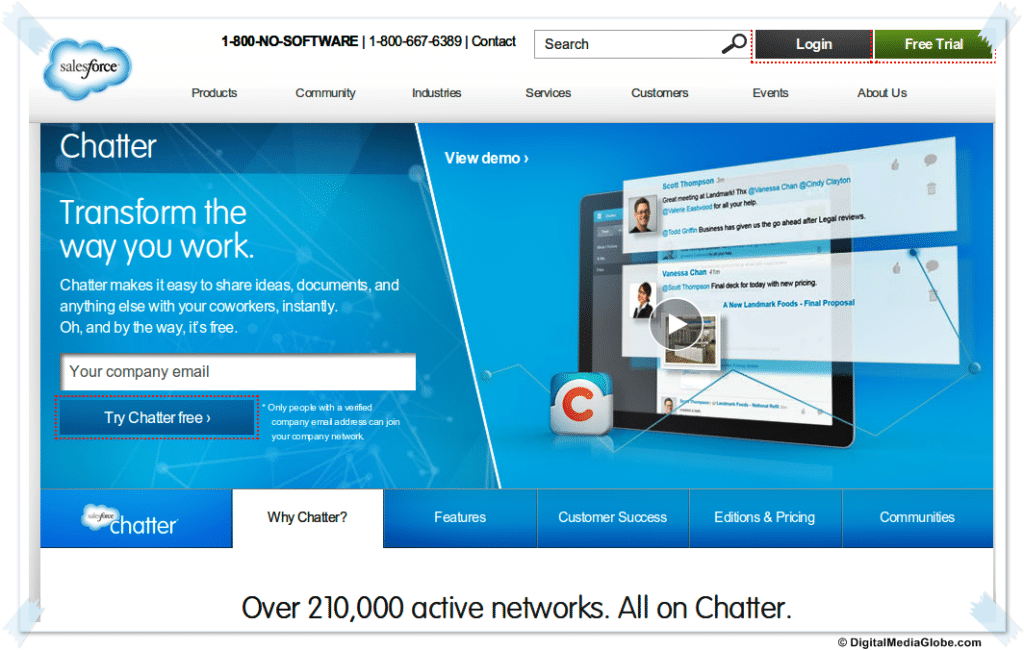 Chatter by Salesforce, Enterprise social media network