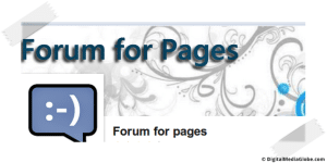 Forum for pages   Facebook Face Page Apps