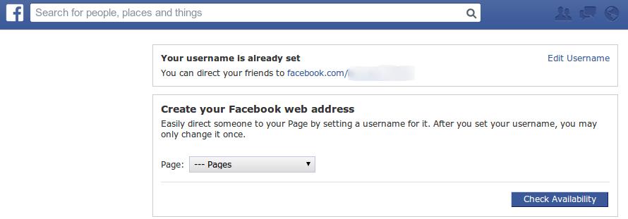 Vanity URL Facebook