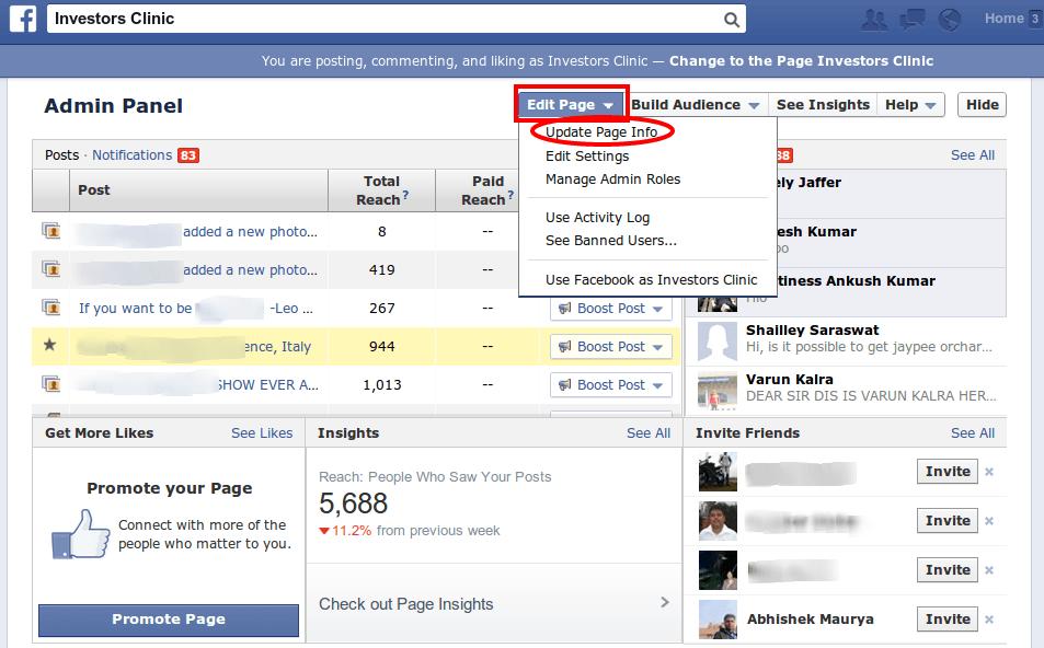 facebook vanity urls
