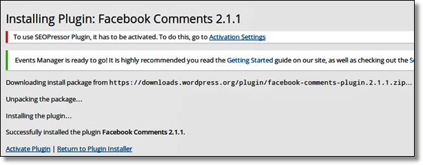 Instal Facebook Comment Plugin