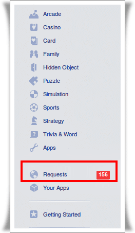 Apps Request in Facebook