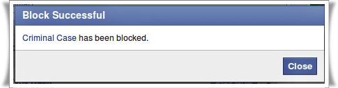 Blocked Facebook App