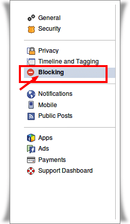 Blocking in Facebook