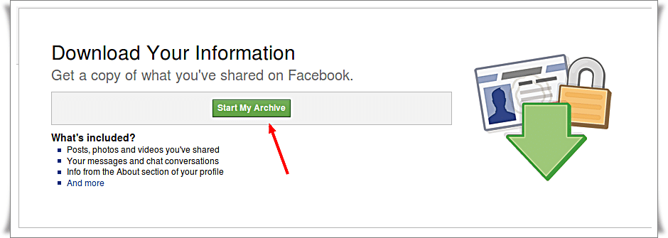 Download your information from Facebook -2