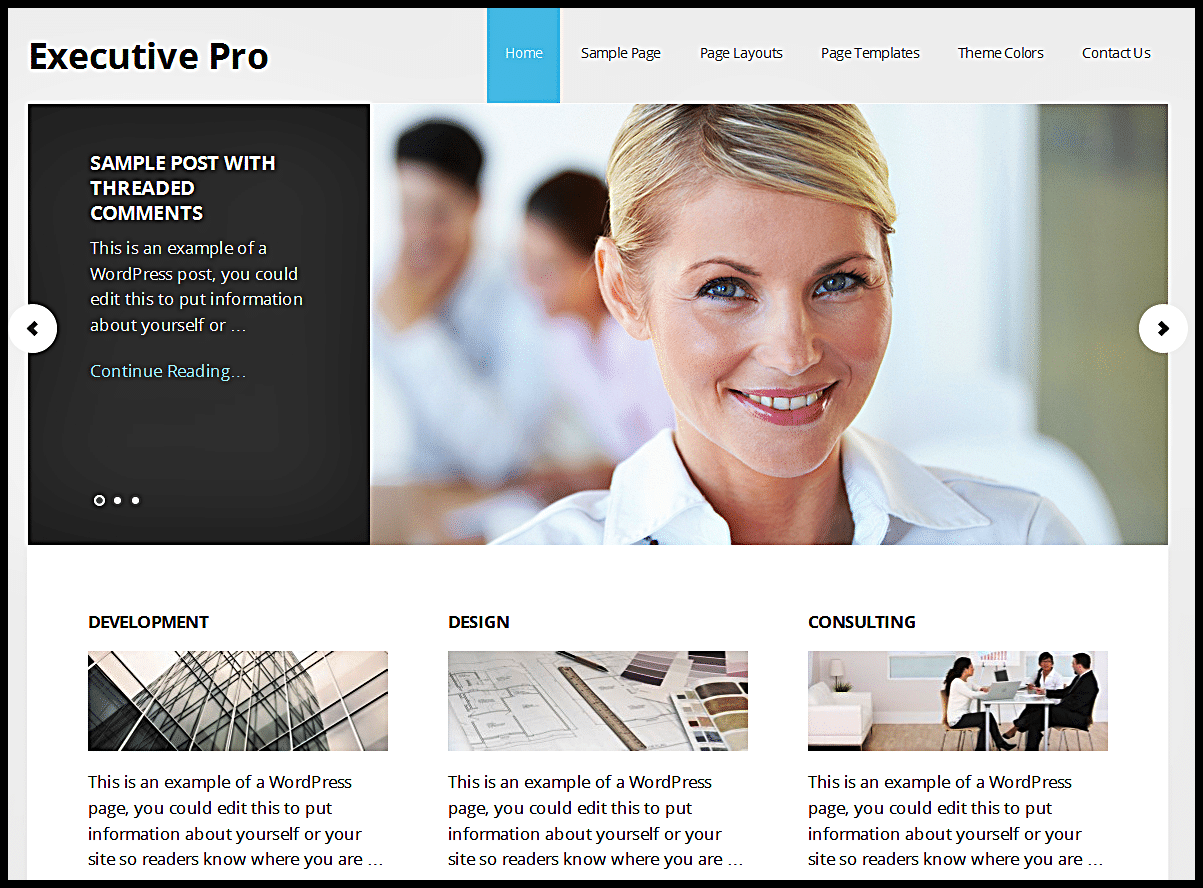 Executive Pro Theme by StudioPress