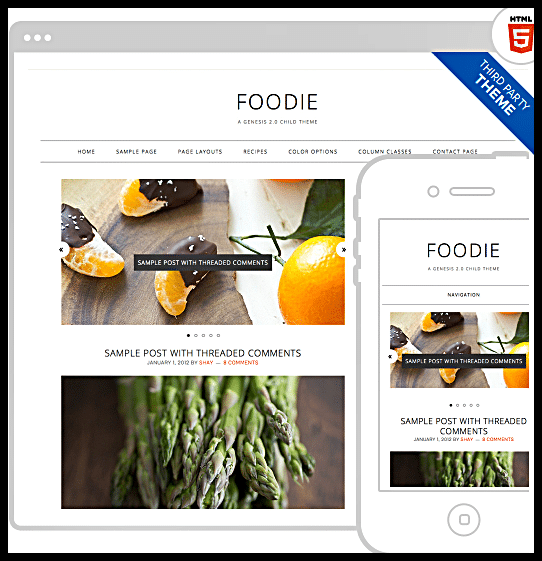 Foodie Pro Theme Genesis Ultimate Food Bloggers Theme