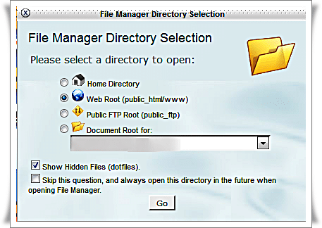 HostGator.com Control Panel pop-up