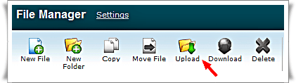 Hostgator cPanel File Manager upload