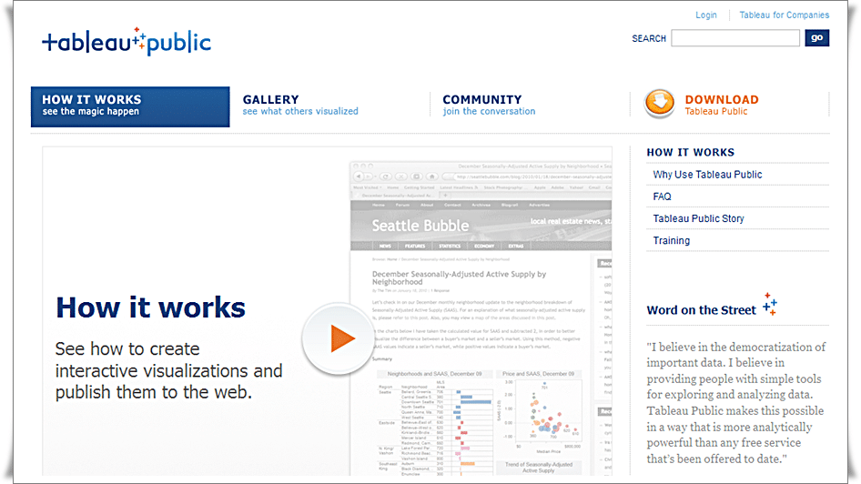 How It Works - Tableau Public