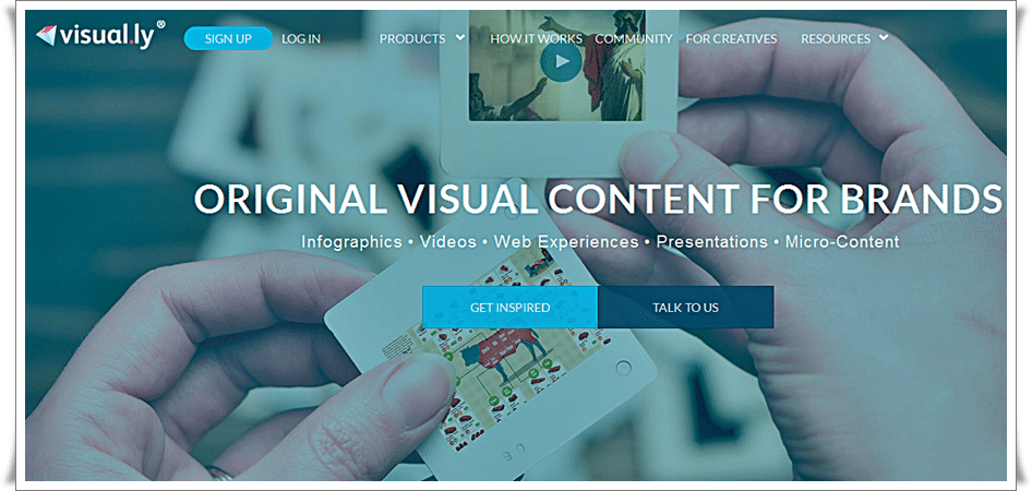 Original Content Marketing for Brands - Visual.ly - infographics tools