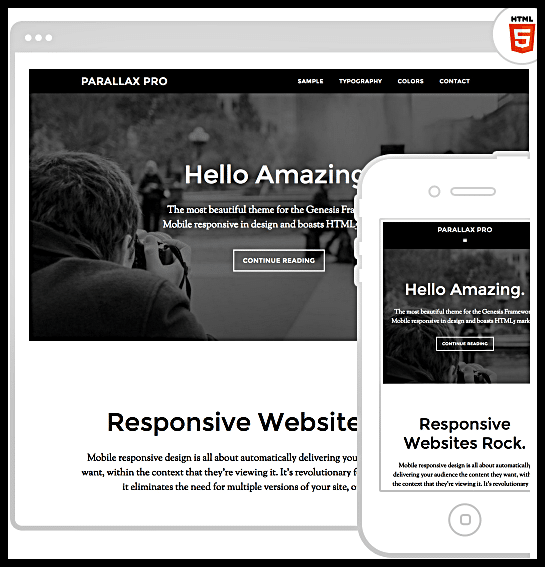 Wordpress Parallax Pro Theme by StudioPress - Parallax Pro Theme Review