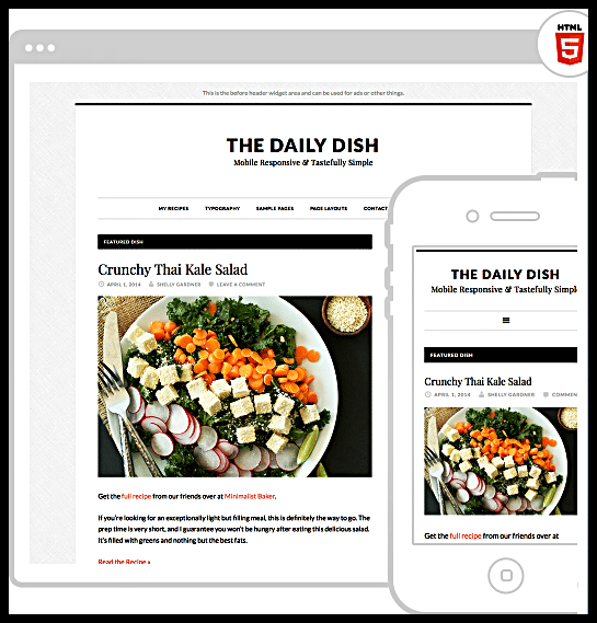 Daily Dish Pro Theme by StudioPress - DigitalMediaGlobe