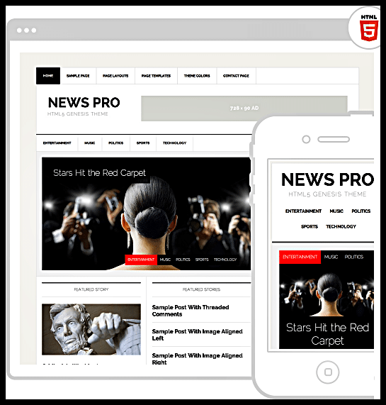 WordPress News Pro Theme by StudioPress