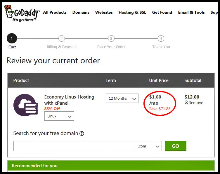 GoDaddy Promo Code for Hosting