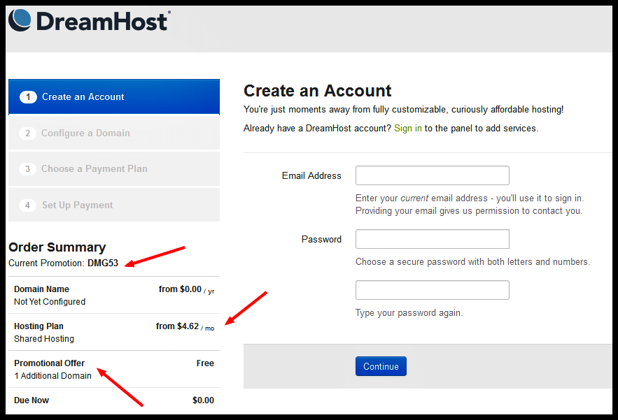 Dreamhost 53 OFF Coupon Code