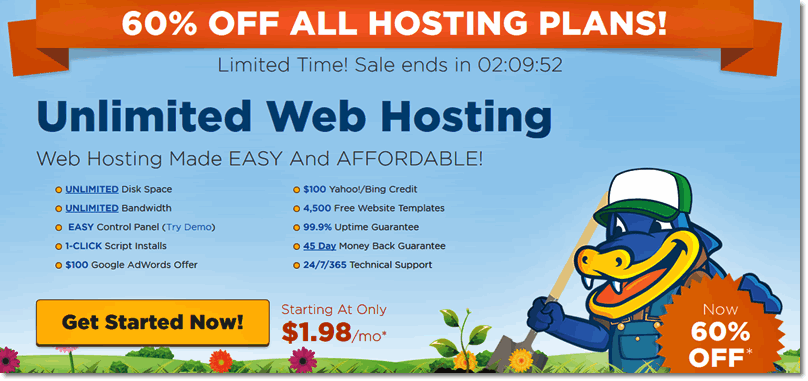 HostGator Promo Code October 2017 : Up to 60% OFF