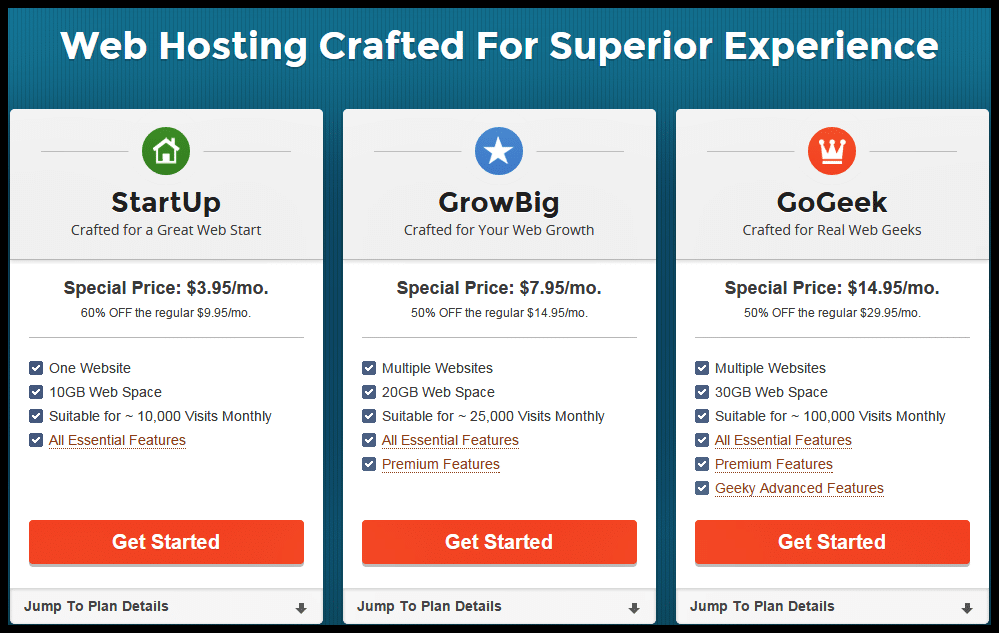 SiteGround Coupons - Hosting Options