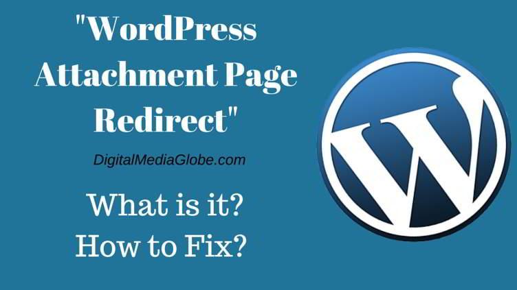 WordPress Attachment Page Redirect