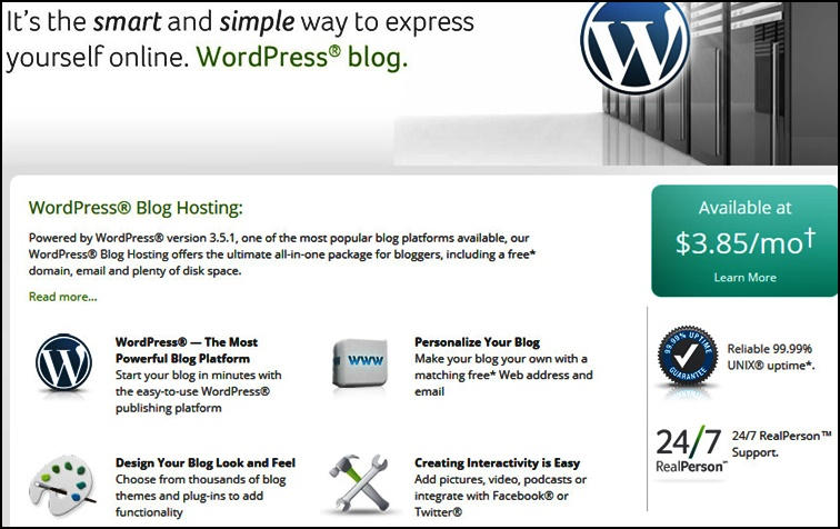 WordPress Blog Hosting - Network Solutions Review