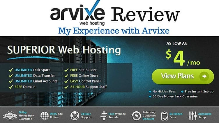 Arvixe Review Experience with Arvixe Web hosting 70
