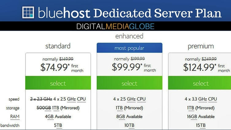 BlueHost Hosting Review - Dedicated Server Plan 73
