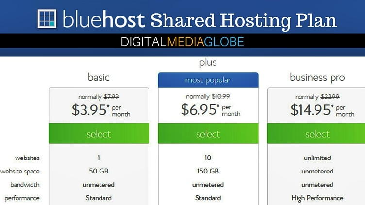 BlueHost Hosting Review - Shared Hosting Plan 73