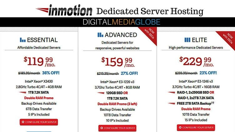 InMotion Hosting Review - Dedicated Servers 74