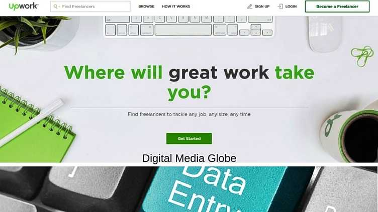 Upwork Hire Freelancers - At home data entry jobs