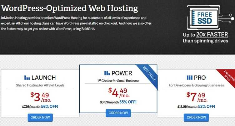 Cheap InMotion Hosting -WordPress Hosting, now with BoldGrid - InMotion Hosting