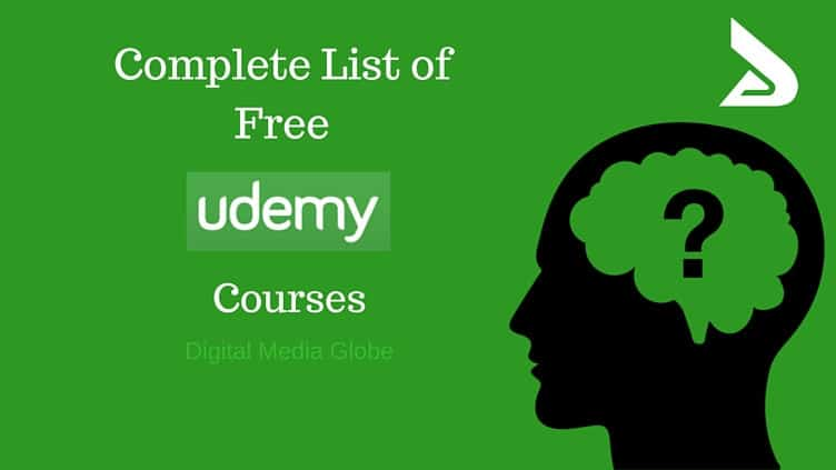 Complete list of all Free Udemy Courses