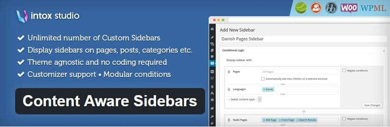 Content Aware Sidebars — WordPress Plugins