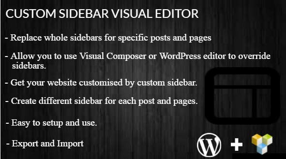 Custom Sidebar Visual Editor WordPress Plugin by CodeCanyon