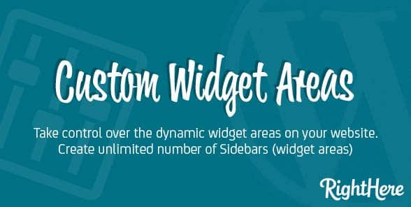 Custom Widget Areas for WordPress by CodeCanyon