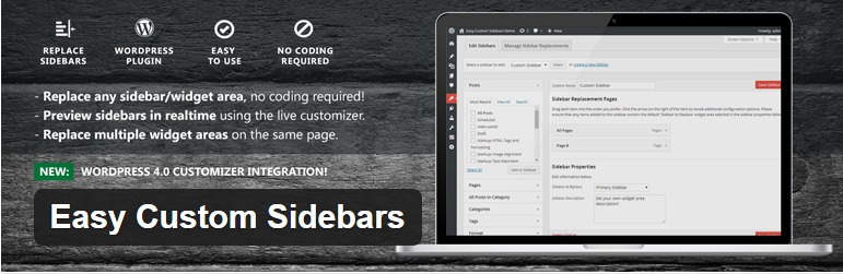 Easy Custom Sidebars — WordPress Plugins