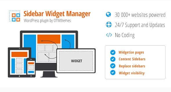 Sidebar Widget Manager for WordPress by CodeCanyon