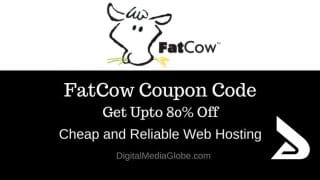 FatCow Coupon Code January 2017: Up to 80% Off