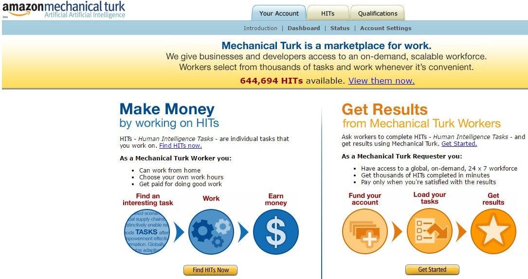 Amazon Mechanical Turk - Online Micro Jobs