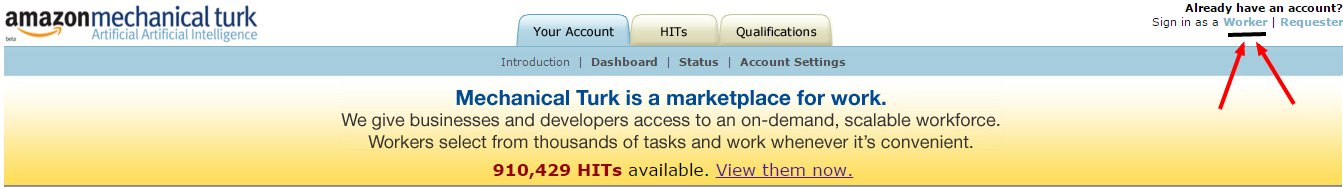 Amazon Mechanical Turk Welcome