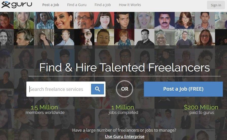 Guru - Micro Site - Hire Quality Freelancers And Find Freelance Jobs