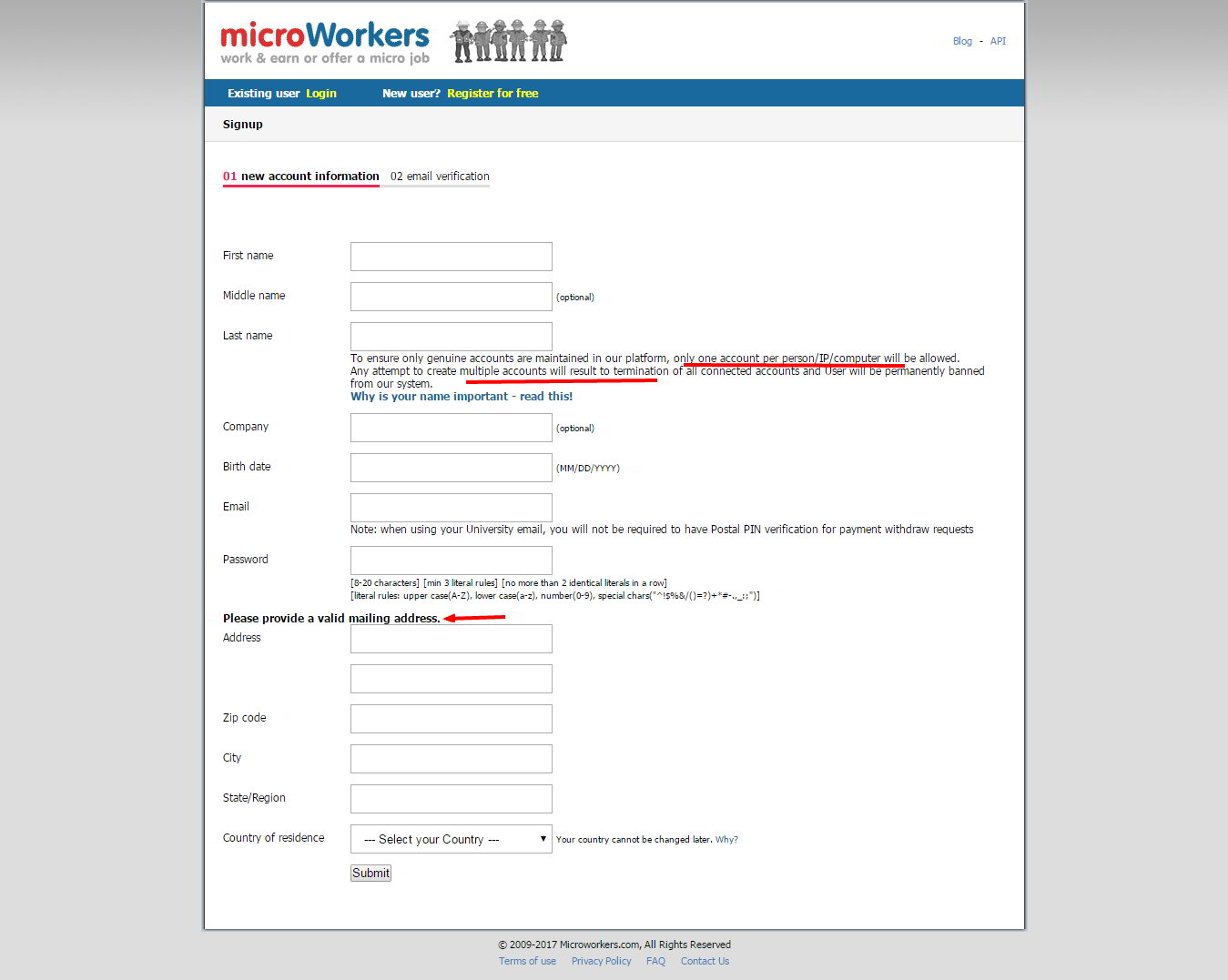 Microworkers work earn or offer a micro job