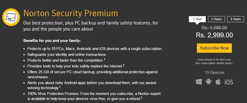 Norton Security Premium Discount Code