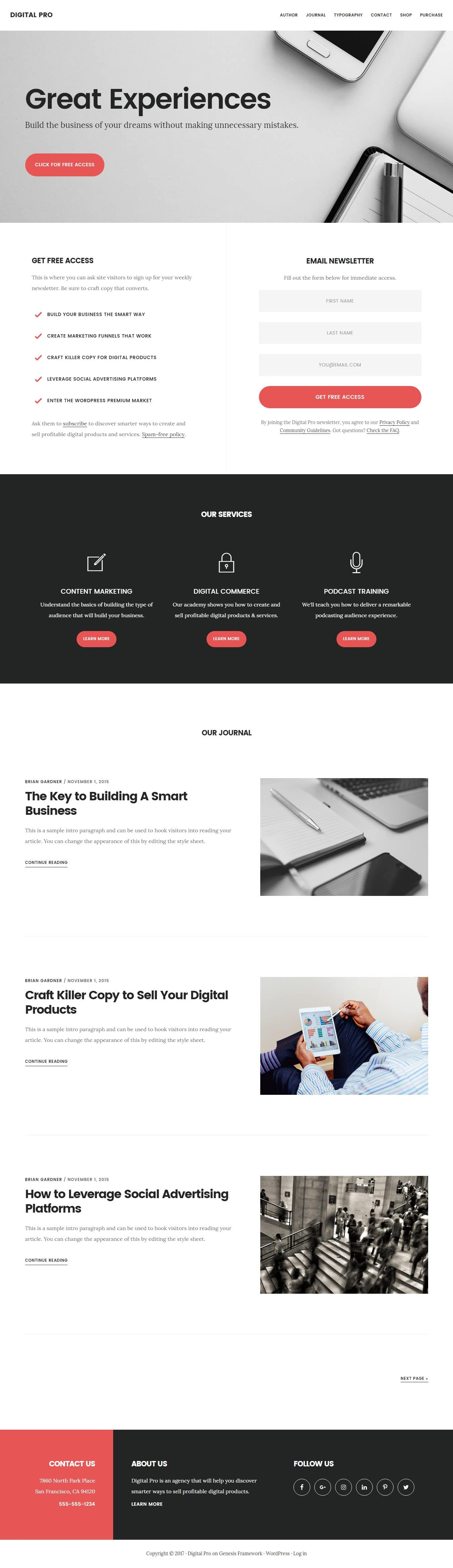 StudioPress Digital Pro Theme – A Professional Theme for Business