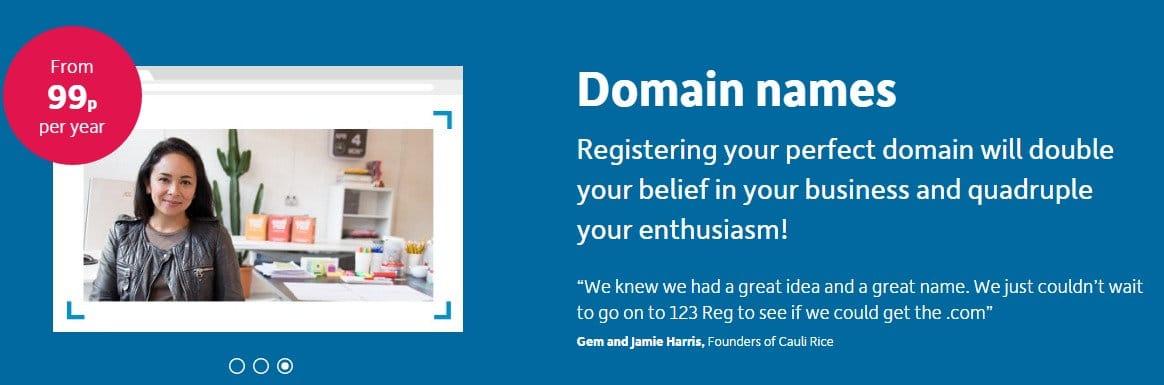 123 reg coupon code - Domain Names