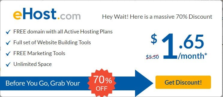 eHost Coupons - eHost promo code