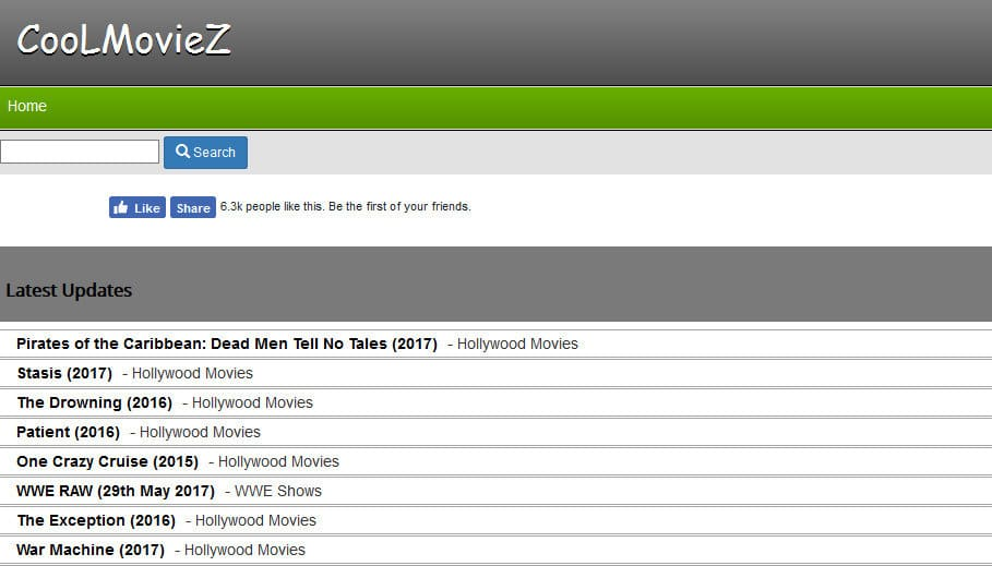 CooLMovieZ - Hollywood Movies download sites