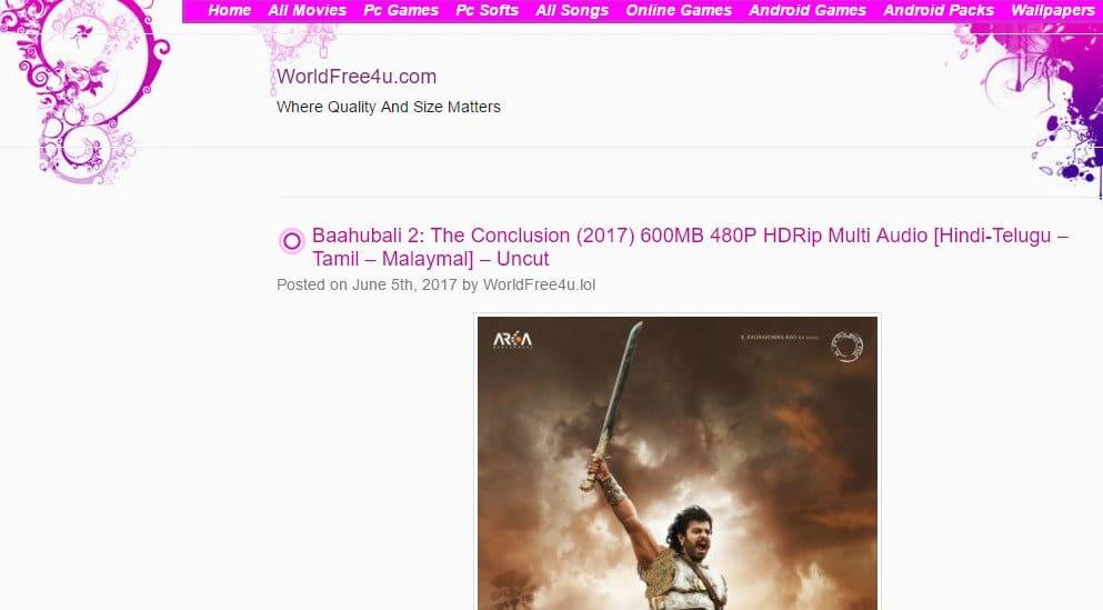 Worldfree4u.com - Best Movie Download Sites