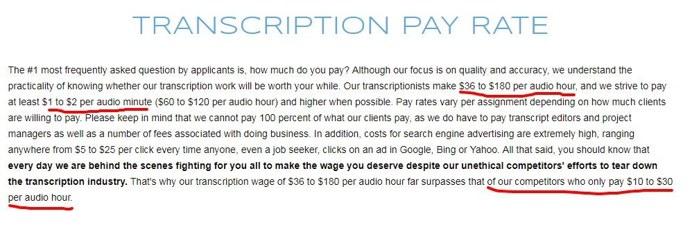 Transcription Jobs 1 888 TYPE IT UP pay