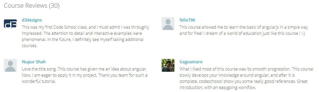 AngularJS Tutorial Code School