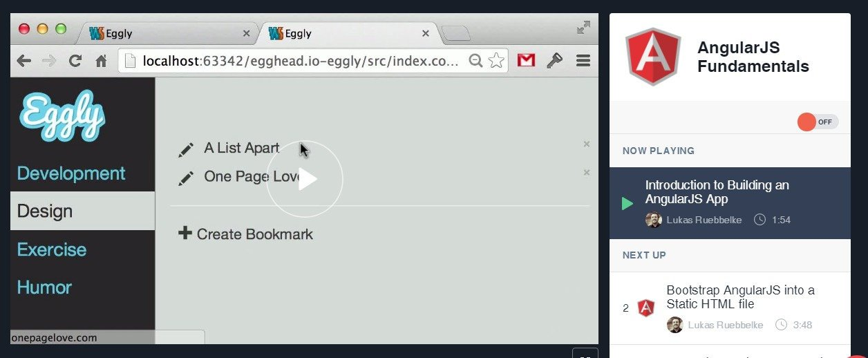 Introduction to Building an AngularJS App from simpulton on eggheadio